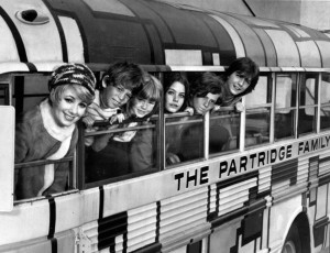 The Partridge Family first cast, 1970. Public Domain