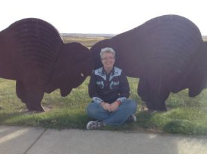 Roamin' with the buffalo in North Dakota.
